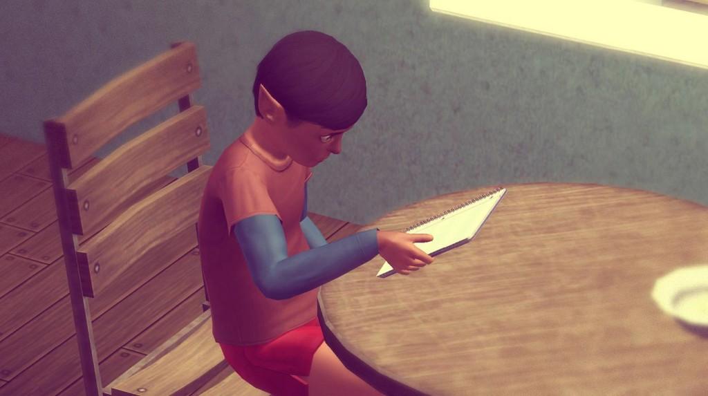 Alfred macht Hausaufgaben