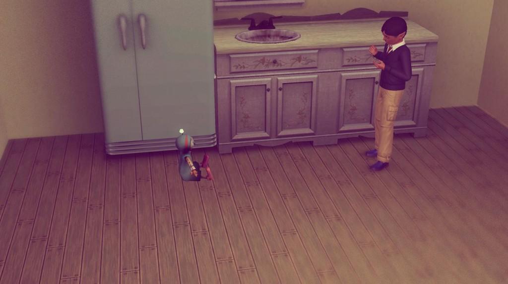 Alfred spielt mit seiner Puppe
