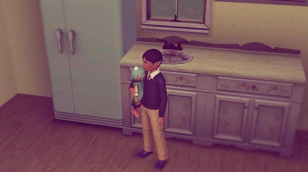 Alfred und seine Puppe