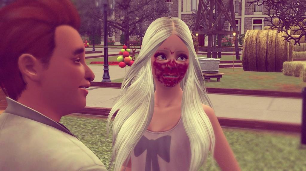 Anna hat Kuchen im Gesicht