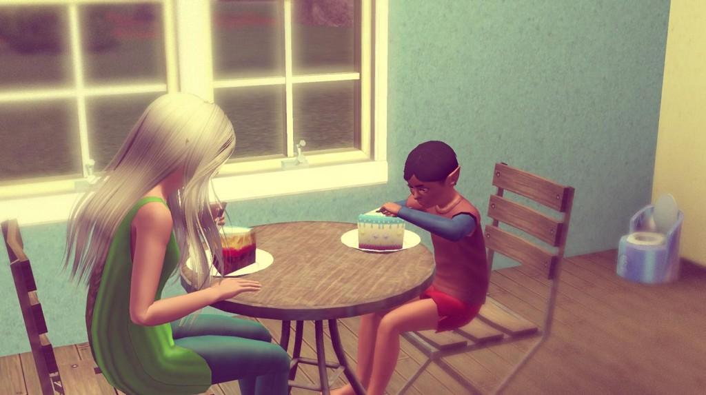 Anna und Alfred beim Frühstück