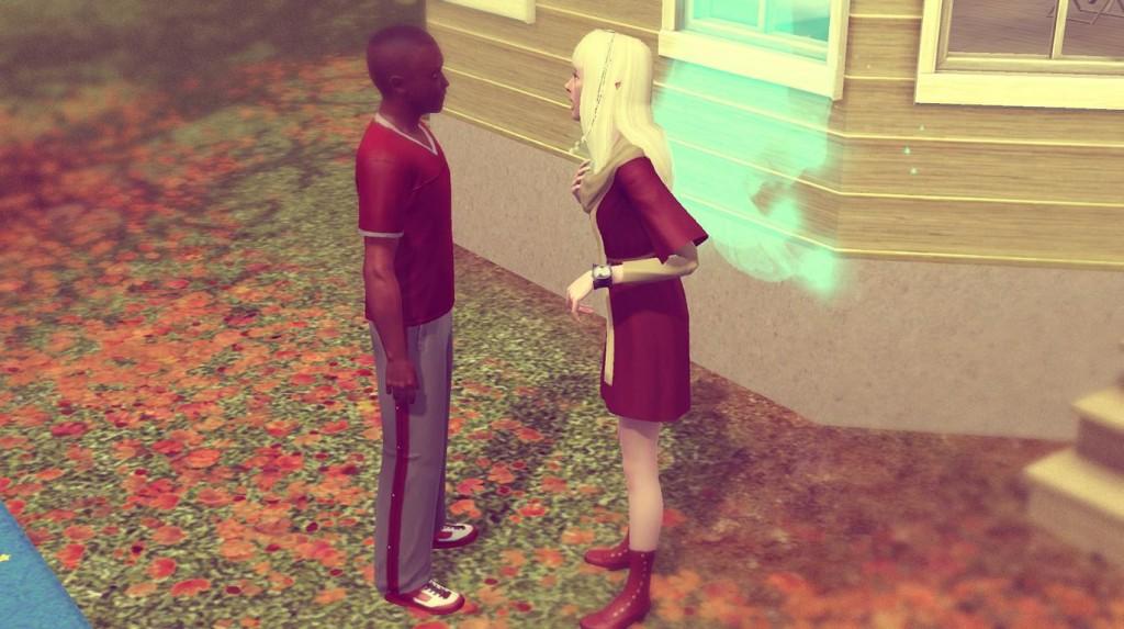 DeSean und Elena reden miteinander