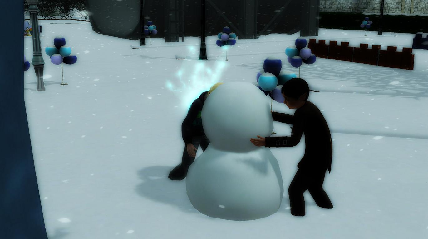 Patrick und Alfred im Winterfest