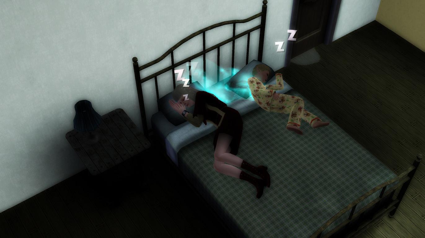 Patrick und Elena machen ein Nickerchen