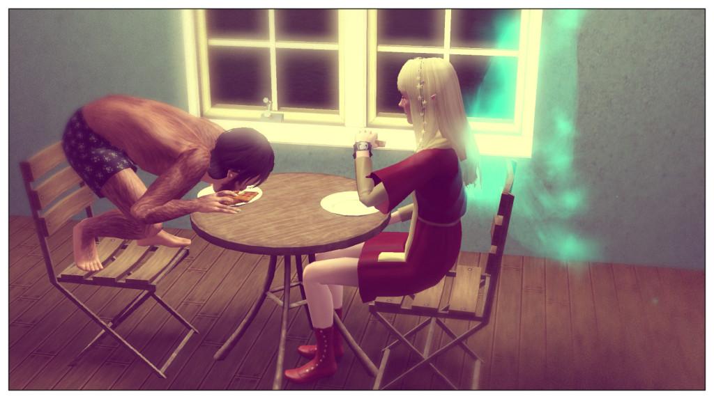 11-Anna und Panam beim Essen
