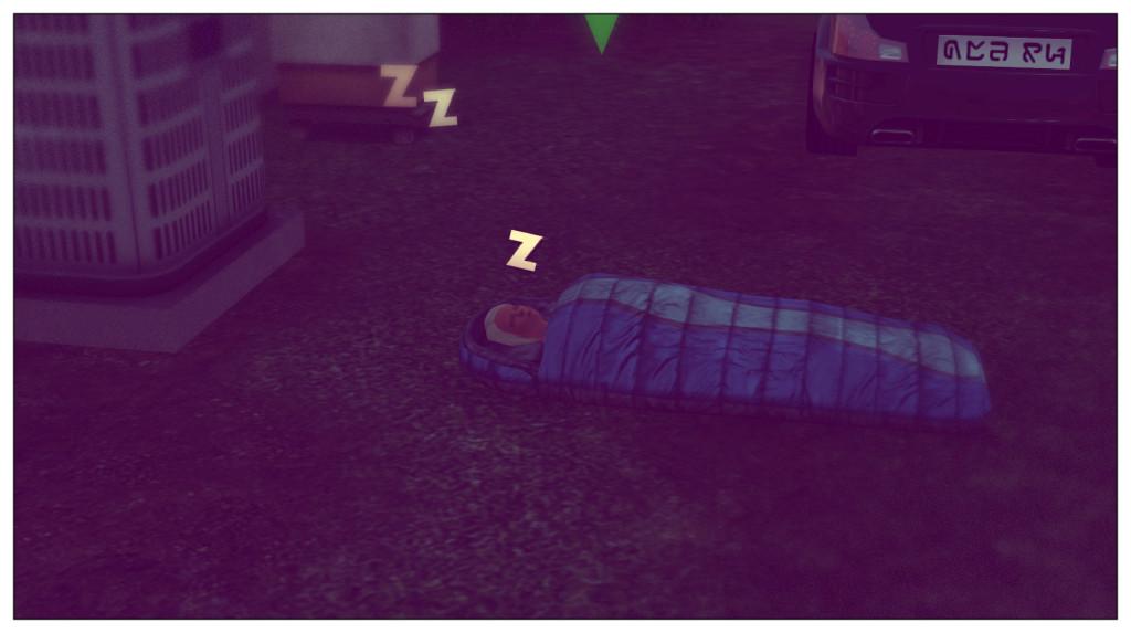 13- Anna schläft draußen