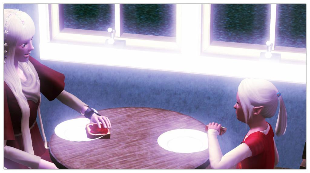 5-Elena und Anna beim Essen