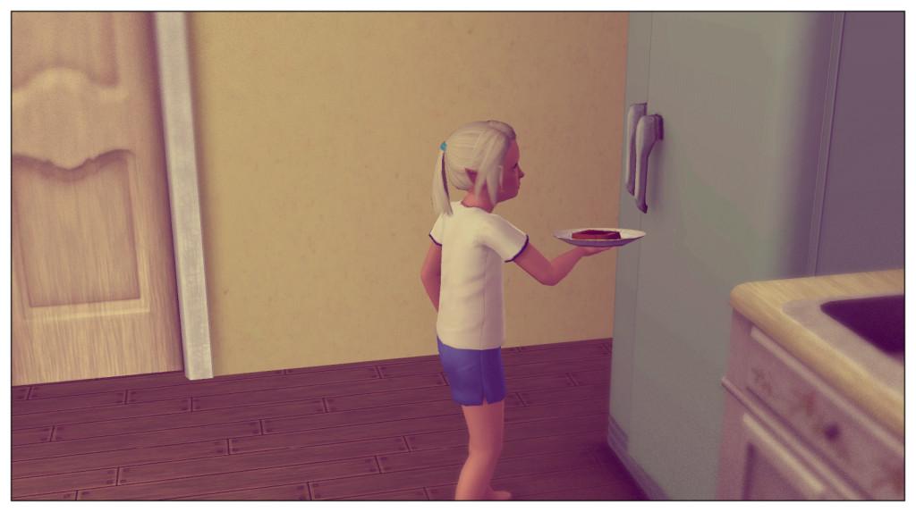 6 - Anna am Kühlschrank