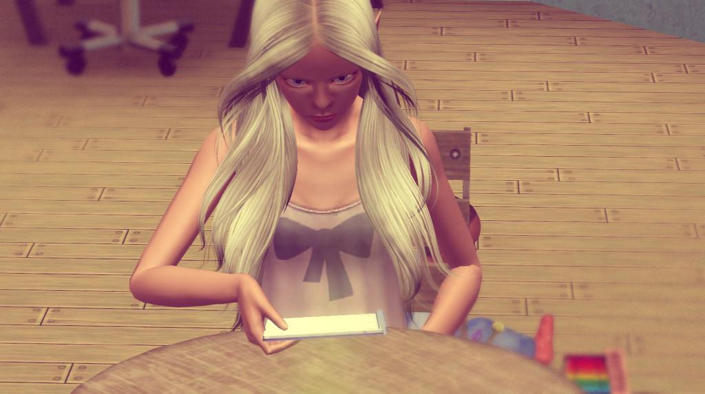 Anna macht ihre Hausaufgaben