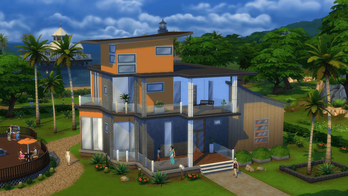 Sims 4 Haus im Wasser