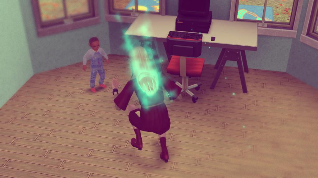 Elena lernt ihren Sohn das Laufen