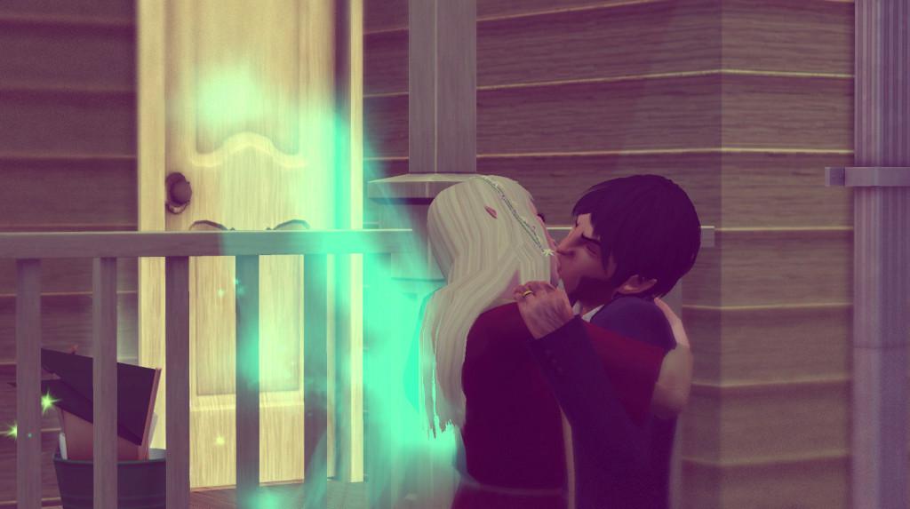 Elena und Panam küssen sich