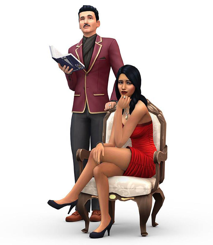 Bella und Mortimer Grusel in Sims 4