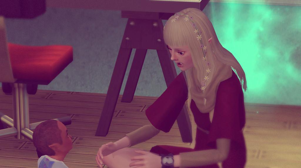 Elena lernt Alfred sprechen