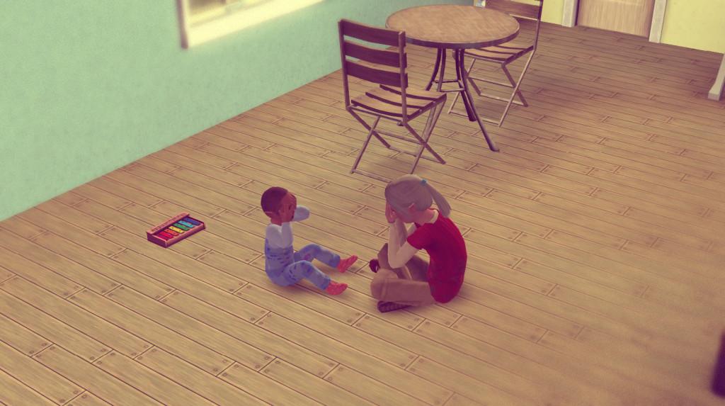 Anna und Alfred spielen gemeinsam