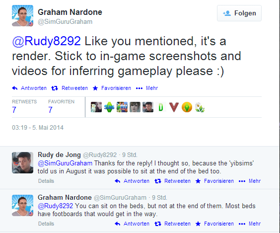"""Twitter Statement von Graham : """"Man kann nicht am Ende des Bettes sitzen"""""""