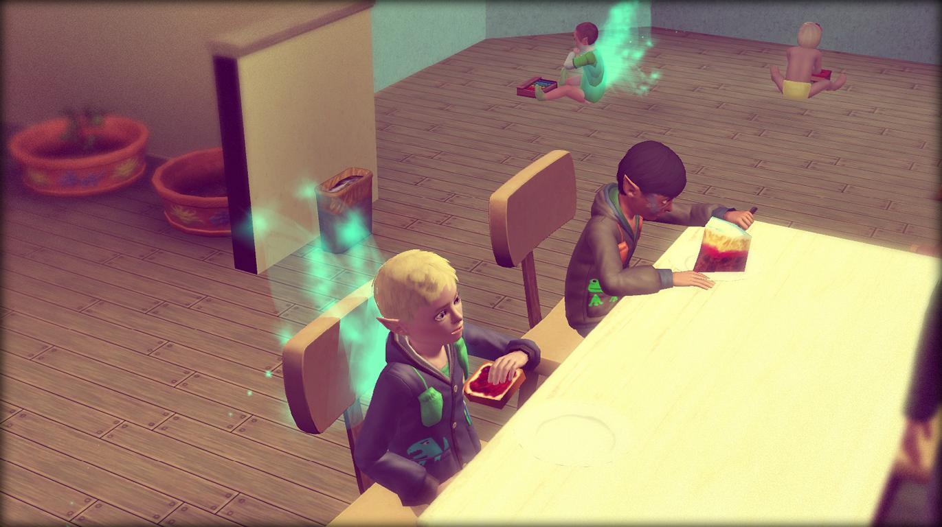 Alfred und Patrick beim Abendessen