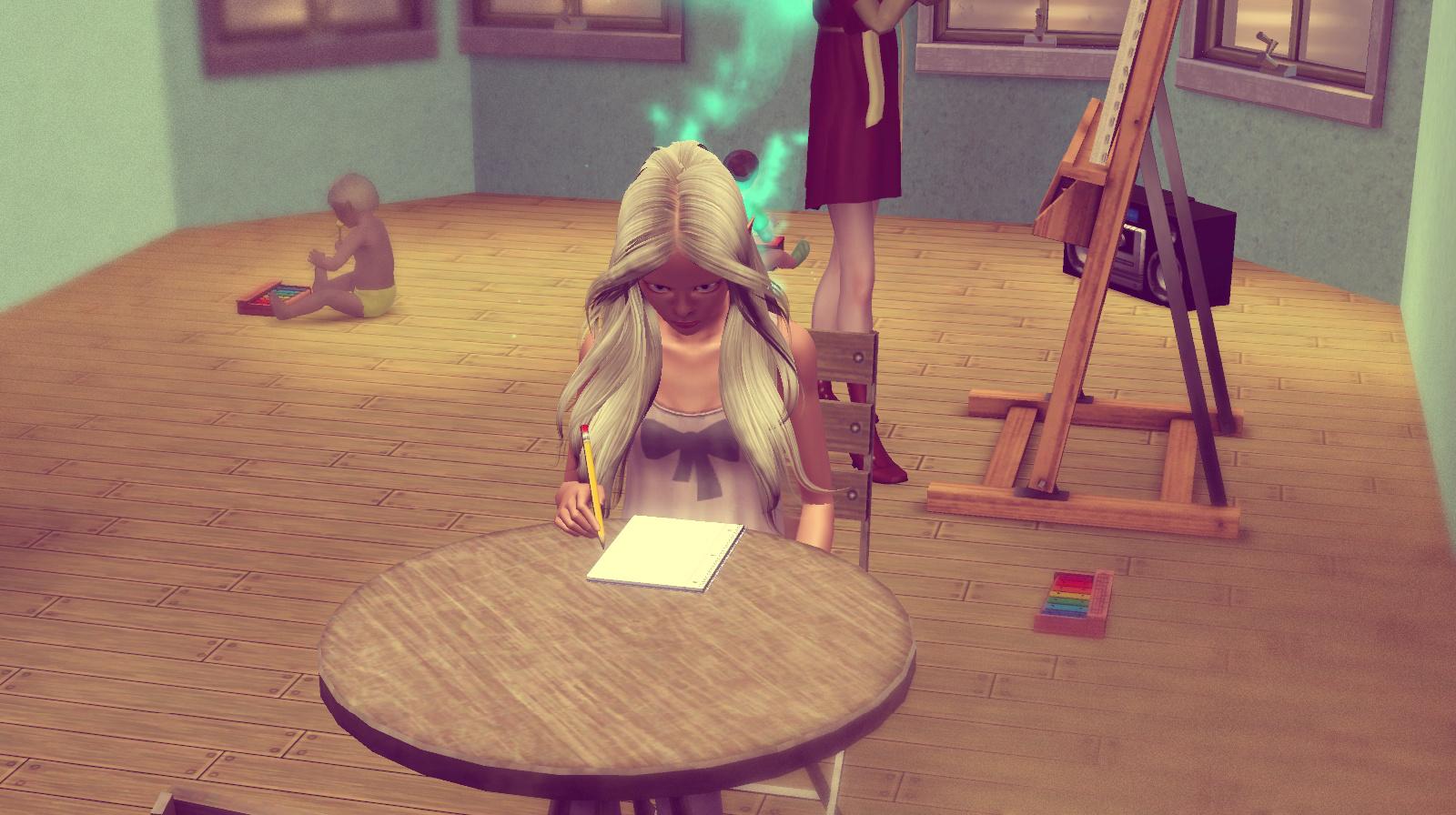 Anna macht Hausaufgaben