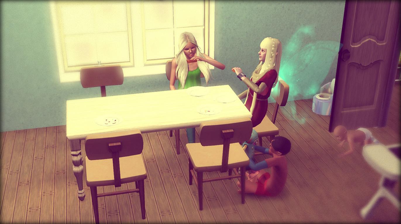 Anna und Elena versuchen Zeit füeinander zu finden