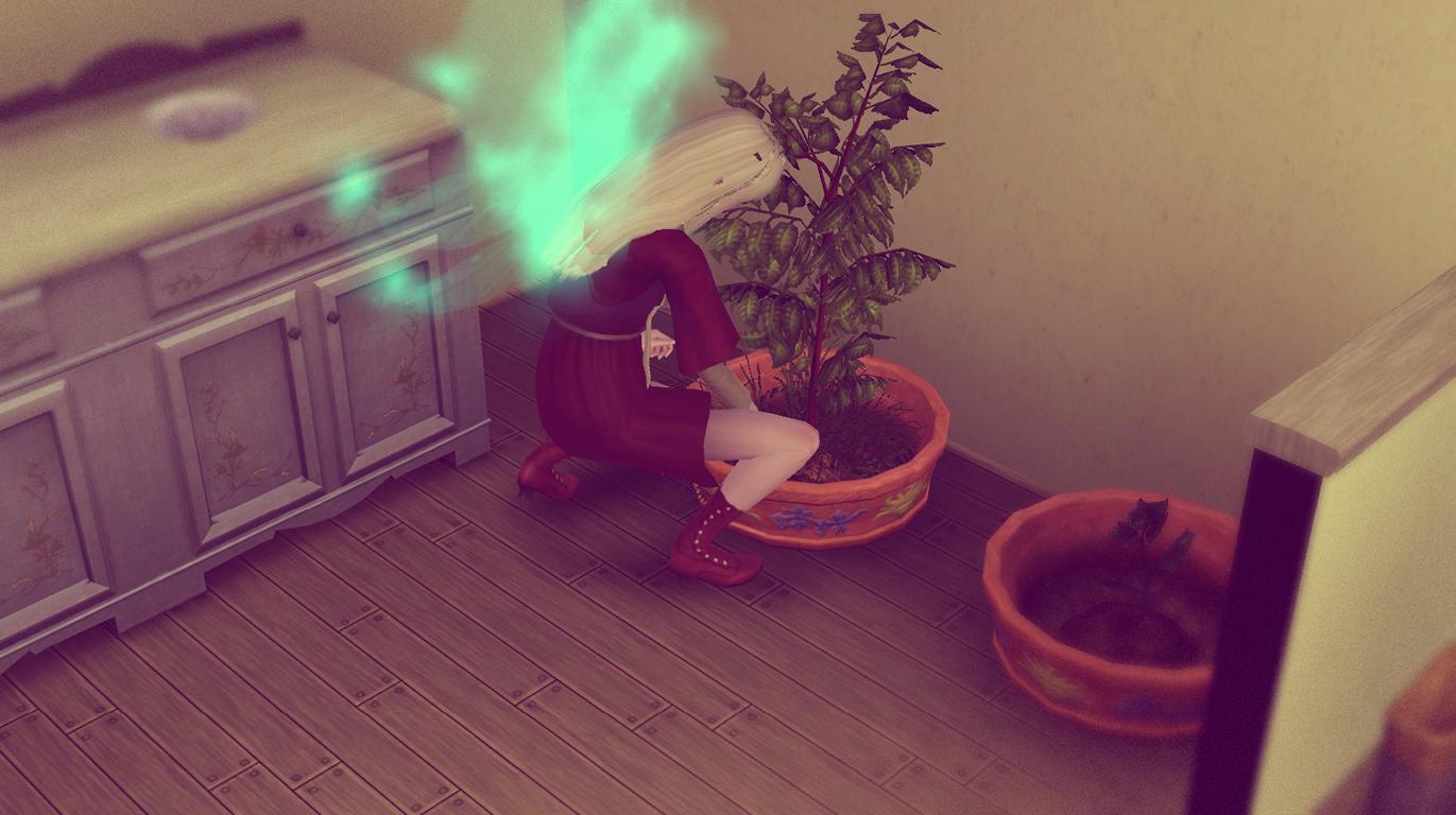 Elena wird eine gute Gärtnerin
