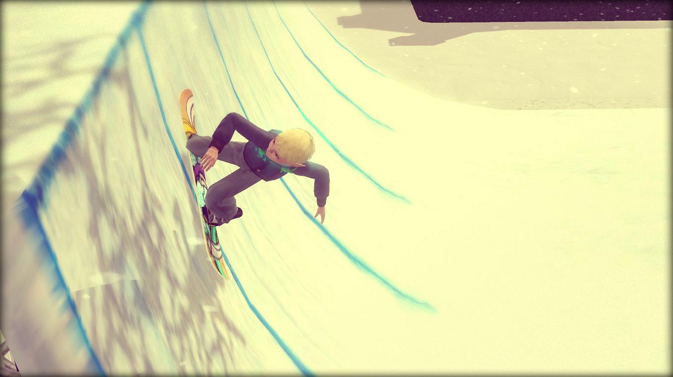Patrick fährt Snowboard