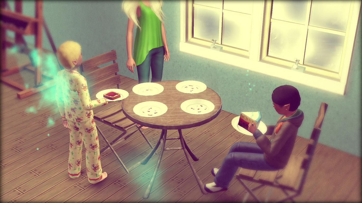 Patrick und Alfred frühstücken auch