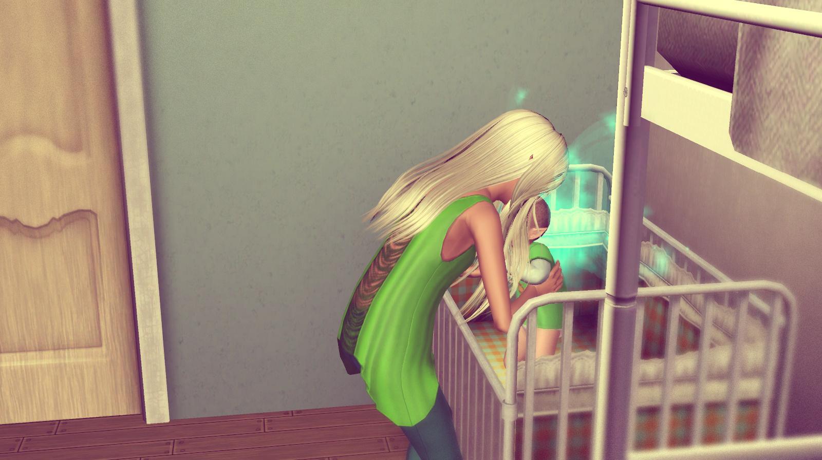Anna kümmert sich um die Drillinge