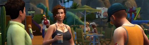 alle Sims aus unterschiedlichen Nachbarschaften auf einem Grundstück zu finden