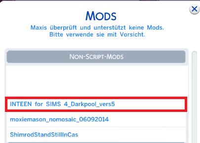 Sims 4 InTeen Mod