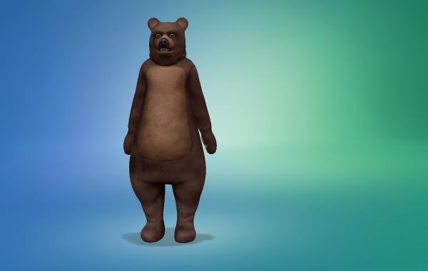 Sims 4 Outdoor Leben Bärenoutfit Farbe 1