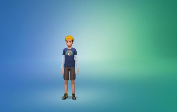 Sims 4 Outdoor Leben Kinder vorgefertige Looks 1