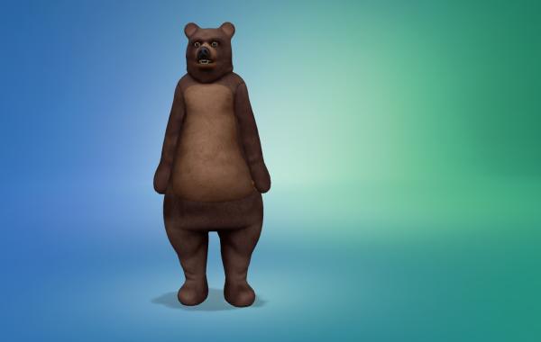 Sims 4 Outdoor Leben Männer Bärkostüm 1