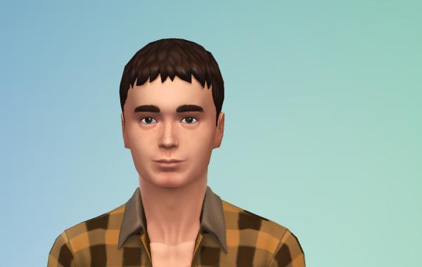 Sims 4 Outdoor Leben Männer Frisur 2 vorne