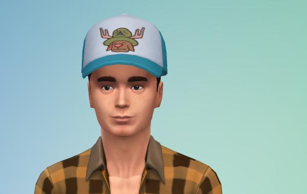 Sims 4 Outdoor Leben Männer Hut 1 vorne
