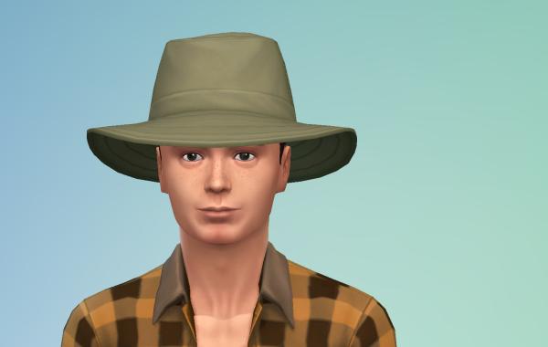 Sims 4 Outdoor Leben Männer Hut 2 Farbe 1