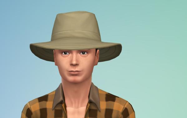 Sims 4 Outdoor Leben Männer Hut 2 Farbe 3