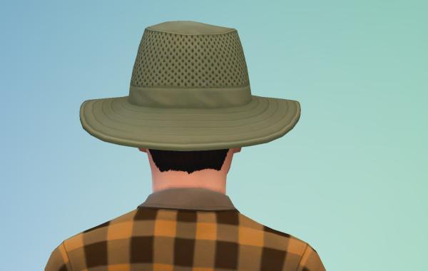 Sims 4 Outdoor Leben Männer Hut 2 Hinten