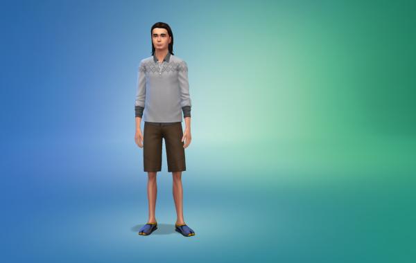 Sims 4 Outdoor Leben Männer Schuhe 1 Farbe 8