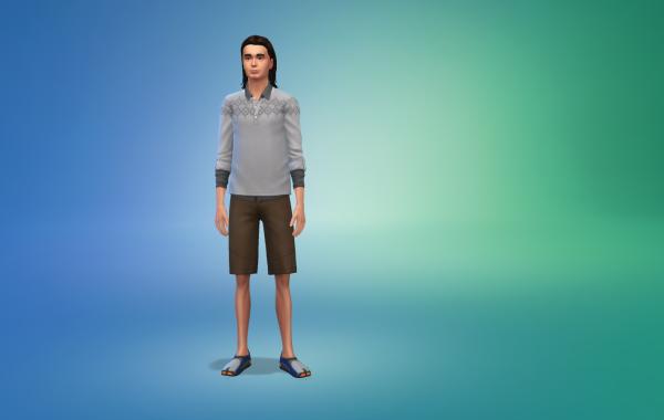 Sims 4 Outdoor Leben Männer Schuhe 1 Farbe 9