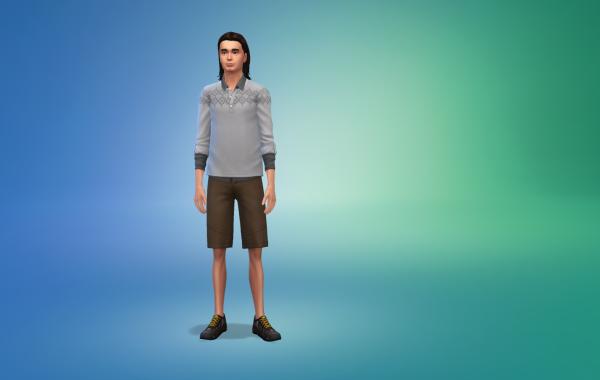 Sims 4 Outdoor Leben Männer Schuhe 2 Farbe 1