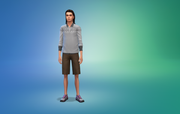 Sims 4 Outdoor Leben Männer Schuhe 2 Farbe 4