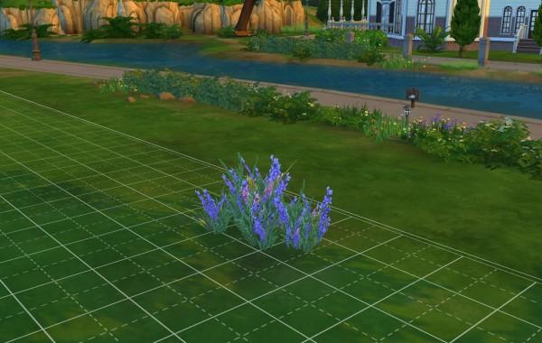 Sims 4 Outdoor Leben Pläsierliche violette Blumen