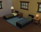Sims 4 Outdoor Leben Waldzuflucht Obergeschoss SChlafzimmer 1