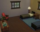 Sims 4 Outdoor Leben Waldzuflucht Obergeschoss SChlafzimmer 2