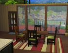 Sims 4 Outdoor Leben Waldzuflucht Untergeschoss Esszimmer