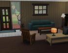 Sims 4 Outdoor Leben Waldzuflucht Untergeschoss Wohnzimmer