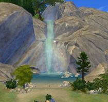 Sims 4 Outdoor Leben Wasserfall 2 Tiefer Wald