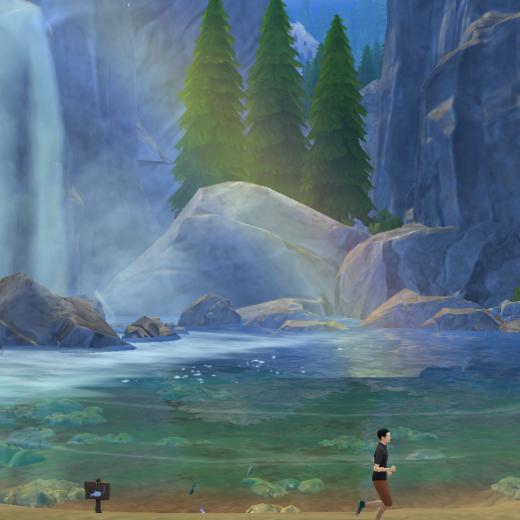 Sims 4 Outdoor Leben Wasserfall