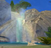 Sims 4 Outdoor Leben Wasserfall Tiefer Wald