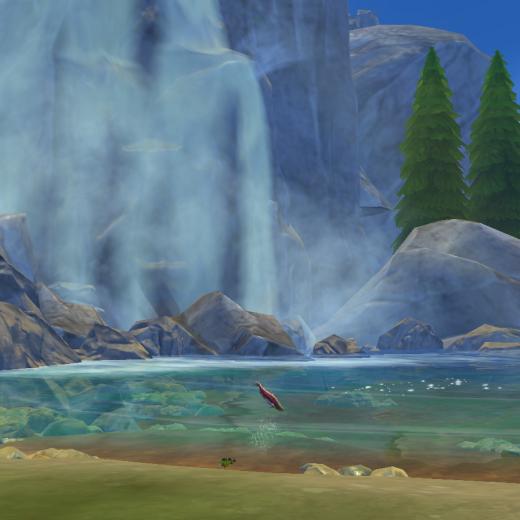 Sims 4 Outdoor Leben Wasserfall und See
